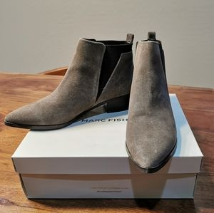 Marc Fisher Grey suede ankle boots